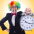 divertente · clown · clock · bianco · party · felice - foto d'archivio © elnur