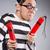 vicces · fogoly · izolált · szürke · szemüveg · jókedv - stock fotó © elnur