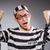 jungen · Gefangener · grau · Porträt · schwarz · weiß - stock foto © elnur