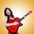 jóvenes · cantante · afro · corte · guitarra · música - foto stock © elnur