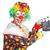 clown with movie board on white stock photo © elnur
