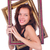 mulher · quadro · de · imagem · isolado · branco · menina - foto stock © elnur