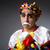 печально · клоуна · женщину · музыку · лице - Сток-фото © elnur