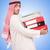 arab · üzletember · sok · mappák · fehér · háttér - stock fotó © elnur