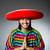 cowboy · férfi · mosolyog · boldog · visel · kalap - stock fotó © elnur