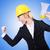小さな · 建設作業員 · ラウドスピーカー · 孤立した · 白 · ビジネス - ストックフォト © elnur