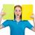 fiatal · diák · tankönyvek · izolált · fehér · nő - stock fotó © elnur