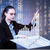 üzletasszony · kisajtolás · gombok · vonal · diagram · nő - stock fotó © elnur