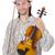 funny · hombre · música · instrumento · blanco · violín - foto stock © elnur