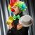vicces · bohóc · humoros · függöny · mosoly · születésnap - stock fotó © elnur