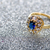 diamant · saffier · trouwring · witte · goud · vak - stockfoto © elnur