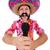 funny · mexicano · cantando · karaoke · feliz · micrófono - foto stock © elnur
