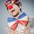 funny clown against dark background stock photo © elnur