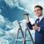 imprenditore · sfidare · climbing · grattacielo · costruzione · uomo - foto d'archivio © elnur