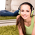 young woman listening to music at home stock photo © elnur