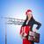 mulher · rainha · engraçado · trabalhar · empresário · executivo - foto stock © elnur