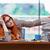 kobieta · interesu · kart · kobieta · pracy - zdjęcia stock © elnur