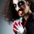 zło · clown · karty · ciemne · pokój · twarz - zdjęcia stock © elnur