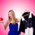 nő · gondolkodik · megtakarított · pénz · ruházat · mosoly · szoba - stock fotó © elnur