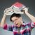 vicces · diák · sok · könyvek · férfi · háttér - stock fotó © elnur