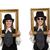 retro · mujer · marco · de · imagen · cara · moda · pintura - foto stock © elnur