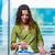 mulher · mão · pano · conselho · lavanderia - foto stock © elnur