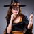vrouwelijke · nerd · zwarte · hoed · bril - stockfoto © elnur