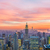 Manhattan · skyline · wolkenkrabbers · zonsopgang · New · York - stockfoto © elnur