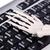 csontváz · dolgozik · laptop · üzlet · technológia · billentyűzet - stock fotó © elnur