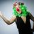 triest · clown · geïsoleerd · witte · glimlach · gezicht - stockfoto © elnur