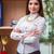 jeunes · femme · d'affaires · regarder · dossiers - photo stock © elnur