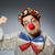 grappig · clown · donkere · glimlach · gezicht · bril - stockfoto © elnur