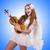 nő · hegedű · játékos · izolált · fehér · koncert - stock fotó © elnur