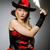 női · kalóz · visel · jelmez · nő · szem - stock fotó © elnur