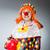 clown · bokshandschoenen · geïsoleerd · witte · vak · triest - stockfoto © elnur