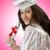 boldog · diák · ünnepel · érettségi · fehér · mosoly - stock fotó © elnur