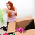young woman moving house in lifestyle concept stock photo © elnur