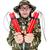komik · asker · yalıtılmış · beyaz · adam · arka · plan - stok fotoğraf © Elnur