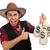 üzlet · cowboy · rajz · felfelé · férfi · üzletember - stock fotó © elnur