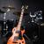 hangszerek · zene · színpad · gitár · háttér · fém - stock fotó © elnur