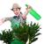 kertészkedés · nő · locsol · növények · tavasz · terasz - stock fotó © elnur