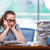 устал · деловая · женщина · компьютер · документы · бизнеса · образование - Сток-фото © elnur