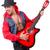 gitáros · ugrik · játszik · kő · zsemle · néz - stock fotó © elnur