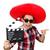 komik · Meksika · film · tahta · yüz · sanat - stok fotoğraf © elnur
