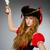 女性 · 海賊 · 孤立した · 白 · 背景 · 剣 - ストックフォト © elnur