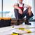 werknemer · leggen · vloer · handen · hout - stockfoto © elnur