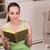 Cute · студент · книгах · портрет · Привлекательная · женщина - Сток-фото © elnur
