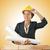 женщину · строителя · кирпичная · стена · бизнеса · строительство · фон - Сток-фото © elnur