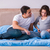 the young family with pregnant wife expecting baby in bed stock photo © elnur