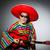 mexikói · gitáros · piros · buli · diszkó · jókedv - stock fotó © elnur
